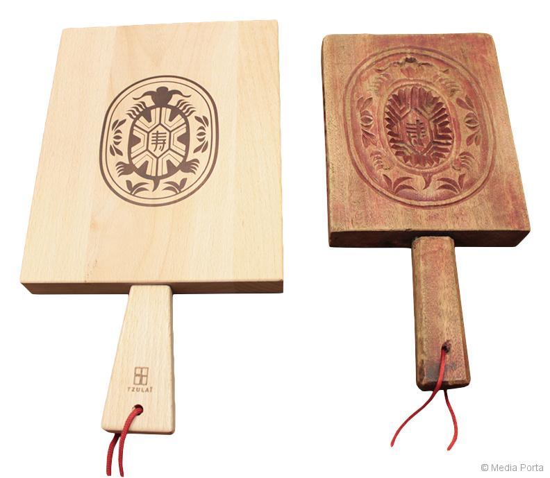 菓子木型がカッティングボードに変身