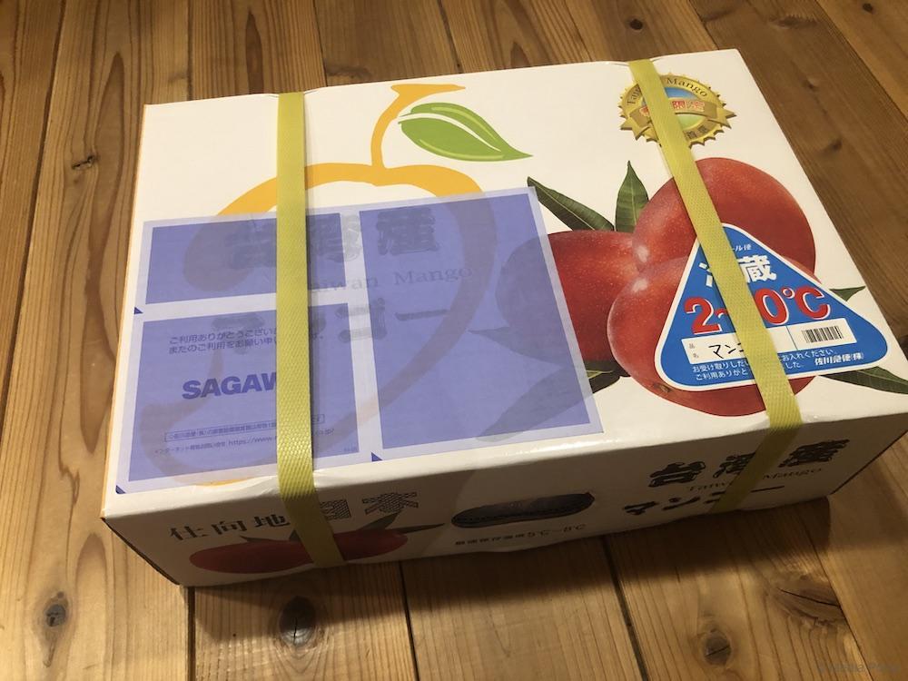 箱に入った台湾マンゴー